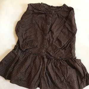 Beautiful deep brown baby gap dress